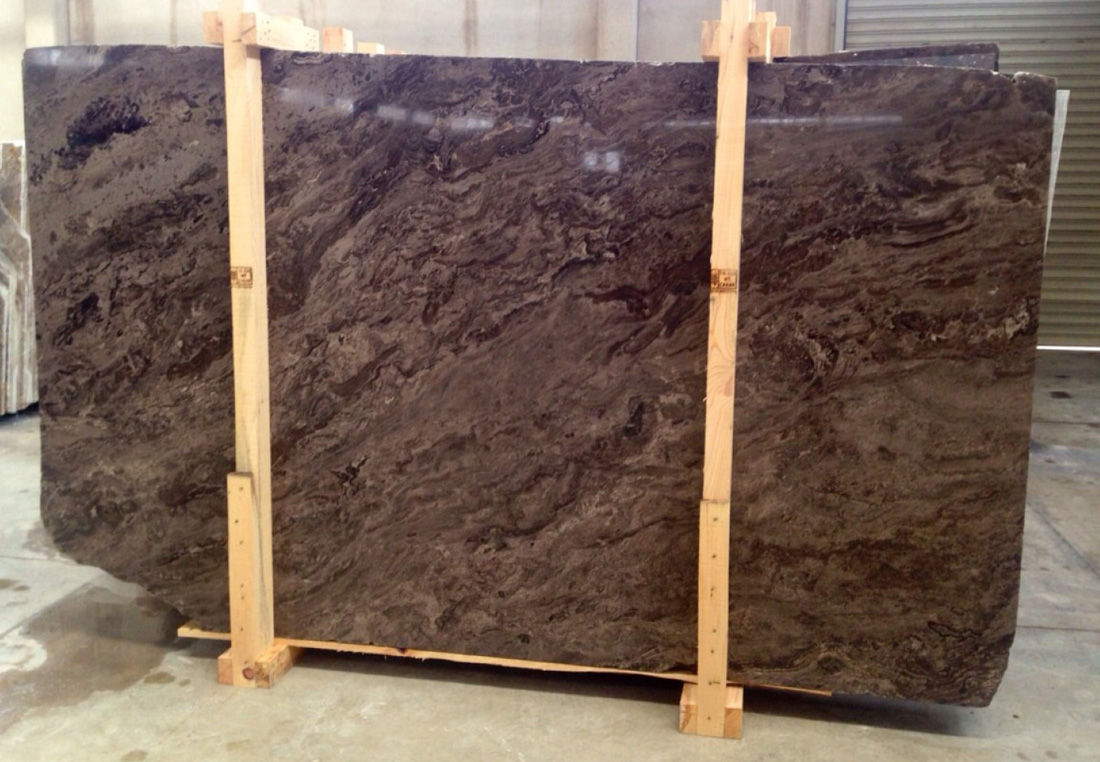 Narcis Travertine Slabs Polished Brown Travertine Stone Slabs