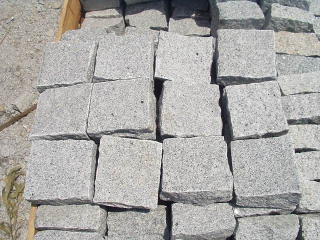 Natural Granite Cubic Stone White Cubic Stone