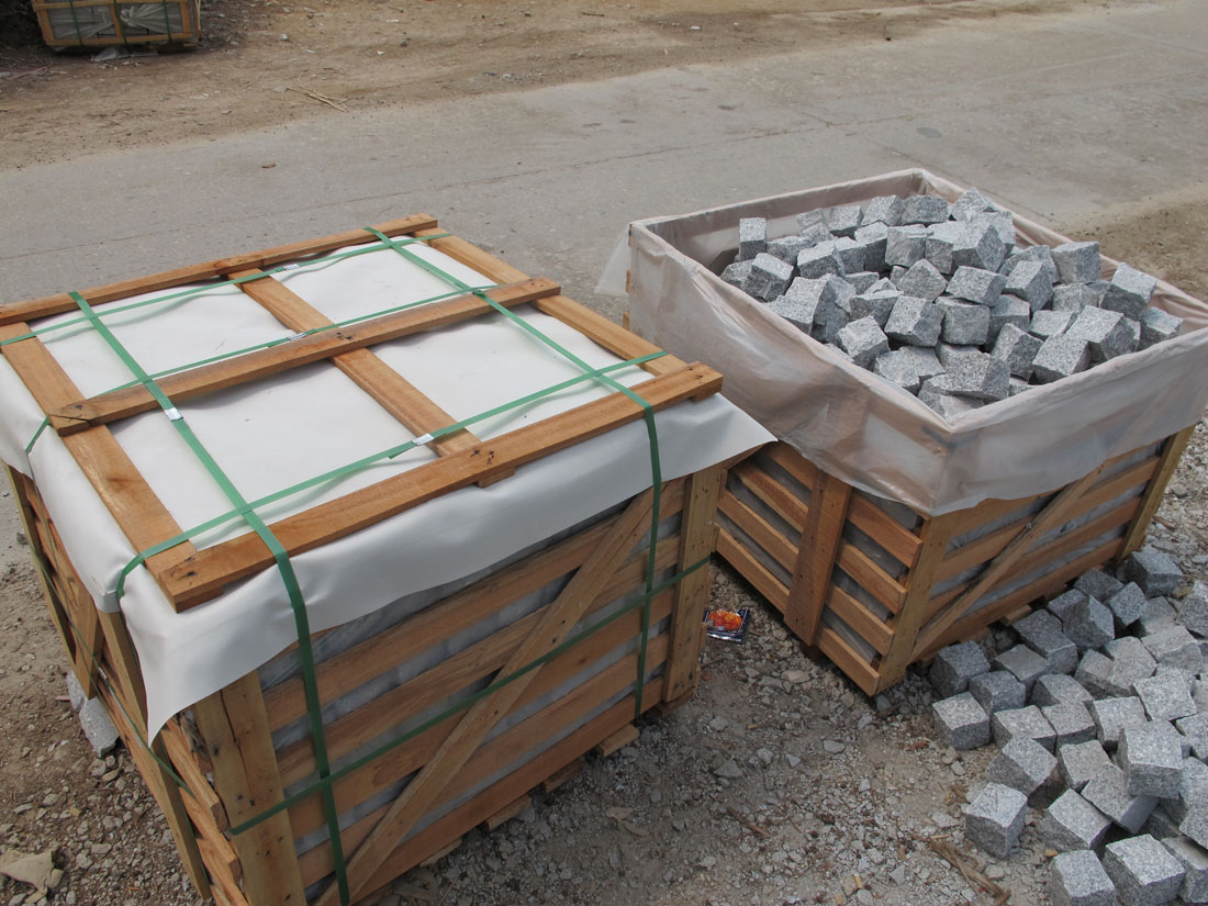 Natural Granite White Cubic Stone for Paving