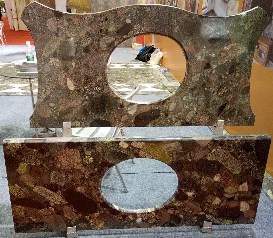 Natural Mosaic Verde Marinace Granite Countertops