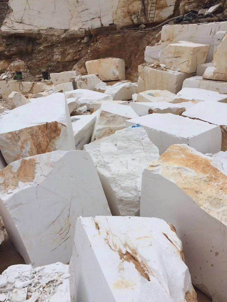 Natural Thassos White Marble Blocks Competitive White Stone Blocks