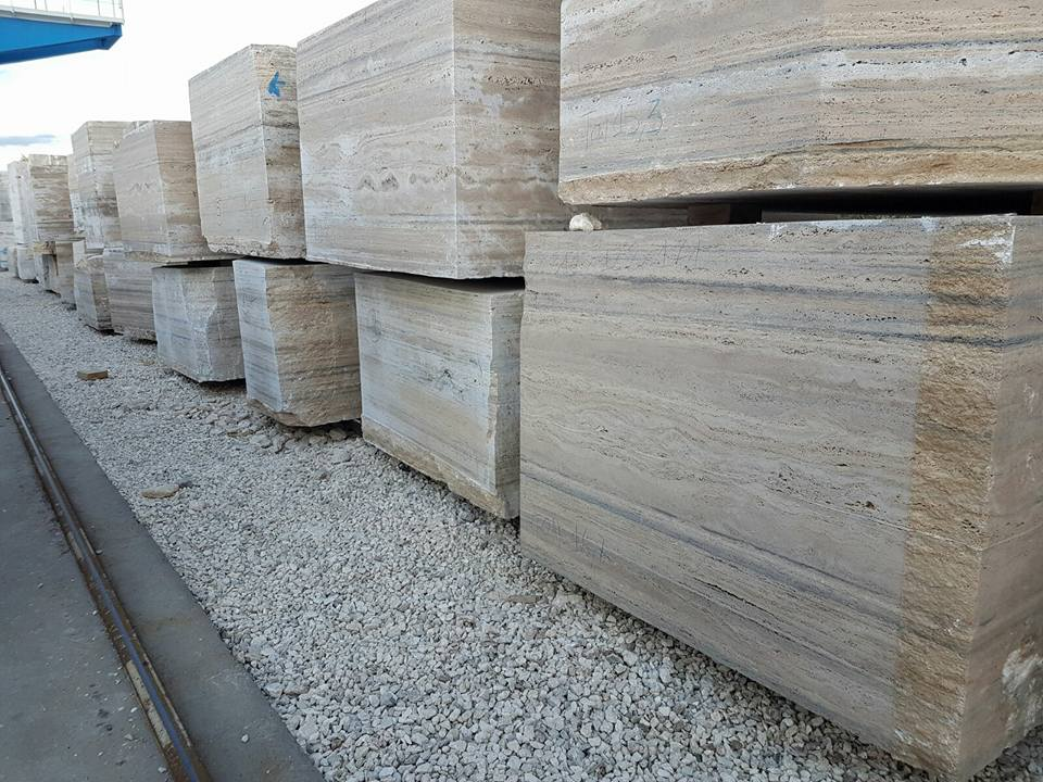 Natural Travertine Blocks Travertino Romano Silver Blocks