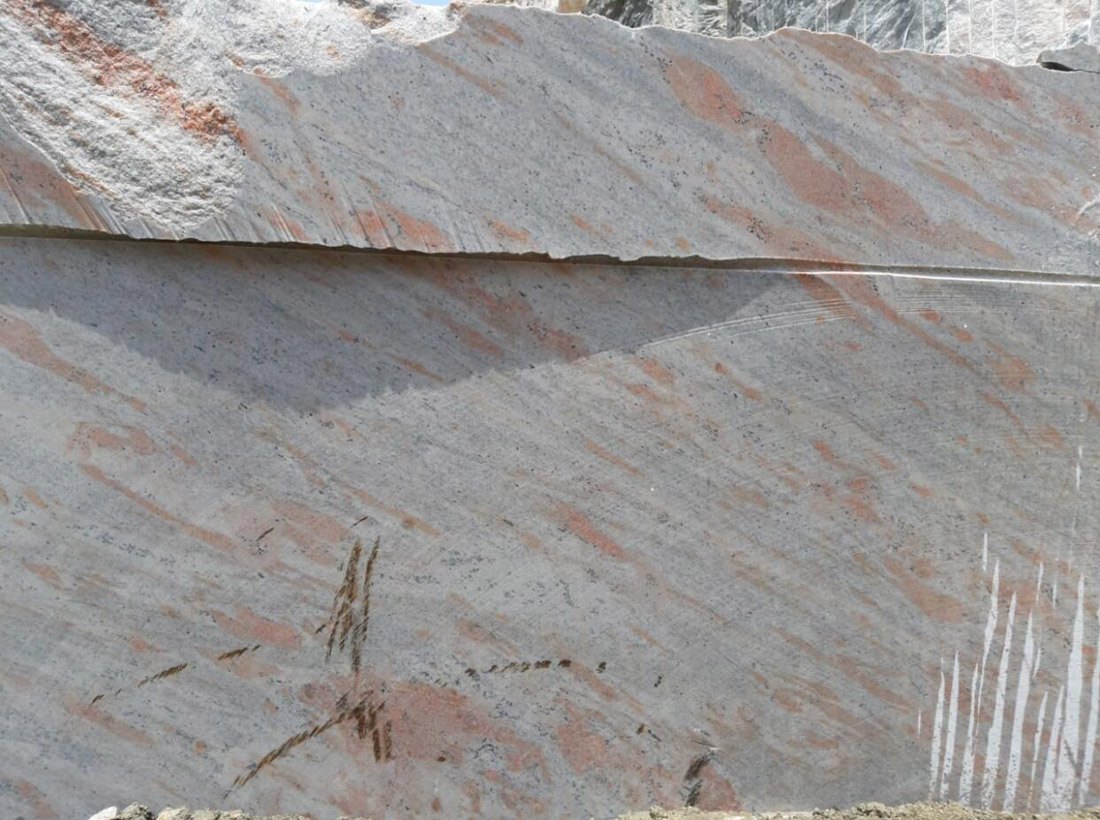 Natural White Granite Blocks Kashmeer White Granite Blocks from Indian Quarry