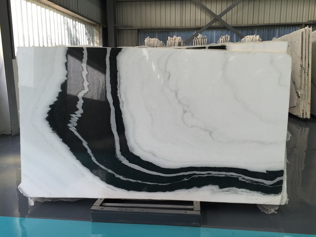 Natural White Marble Slabs Panda White