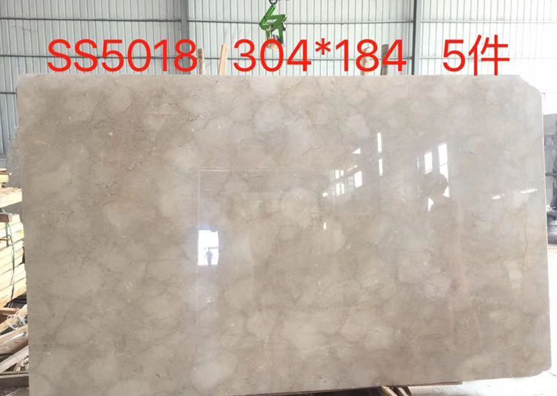Nature Polished New Mimmosa Middle Beige Marble Slab