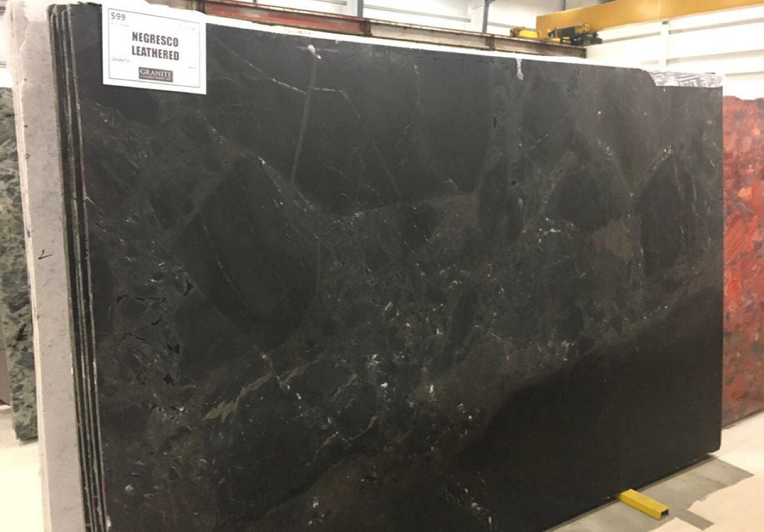 Negresco Leathered Granite Slabs Black Granite Slabs