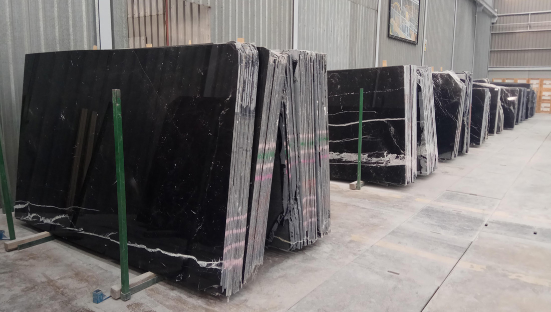 Negro Marquina Marble Slabs