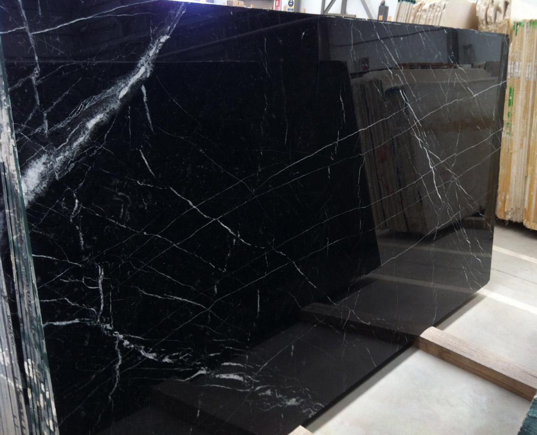 Negro Marquina Marble Stone Slabs Polished Black Marble Slabs