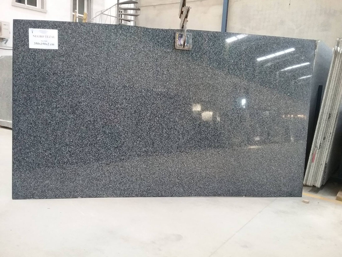 Negro Teazl Granite Polished Black Granite Slabs