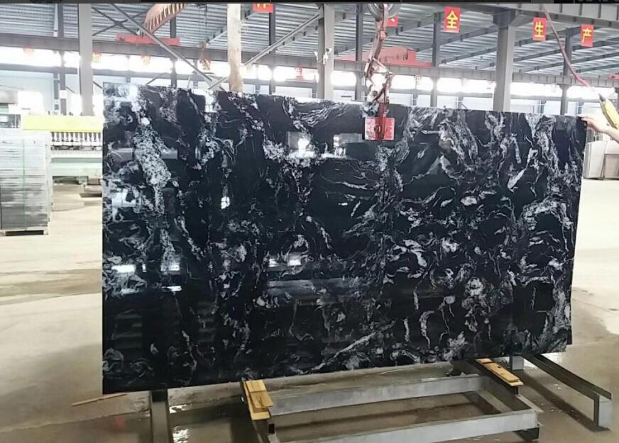 Nero Fantacy Granite Slabs