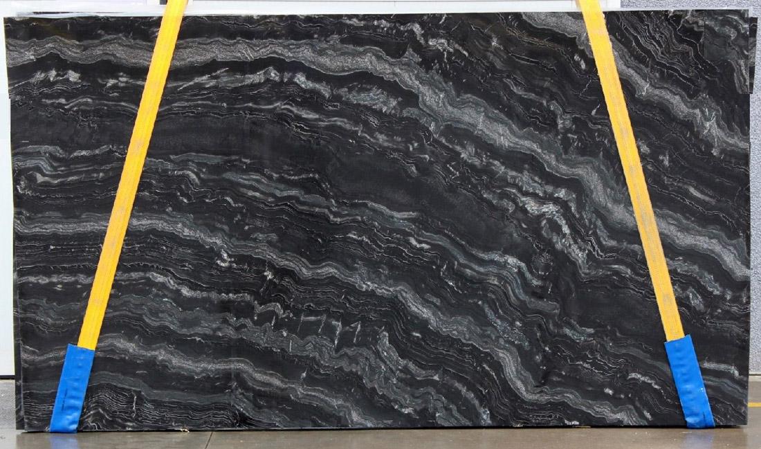 Nero Fiume Granite Slabs Polished Black Granite Slabs for Countertops