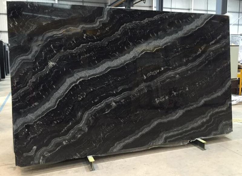 Nero Fiume Granite Slabs Polished Black Granite Stone Slabs