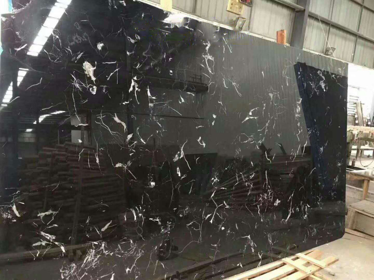 Nero Margiua Black Marble Slabs with High Quality