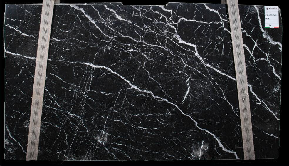 Nero Marquina Marble Slab Spain Polished Black Marble Slabs