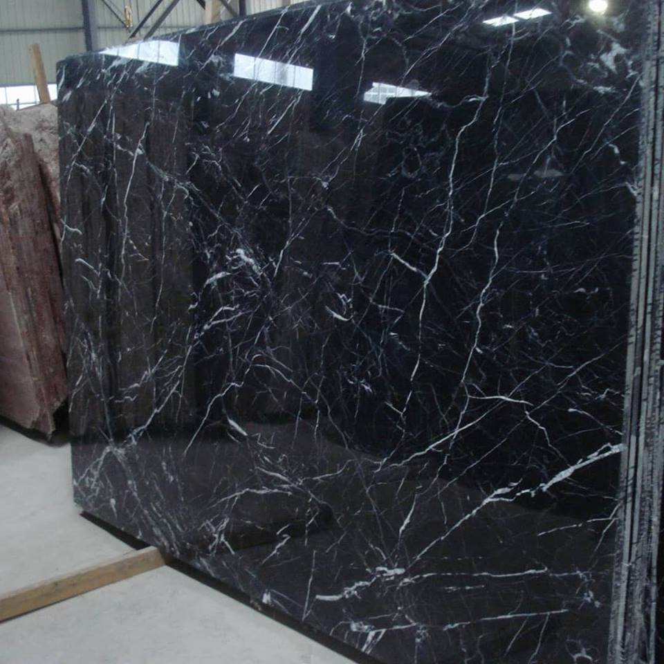 Nero Marquina Marble Slabs Black Polished Marble Slabs