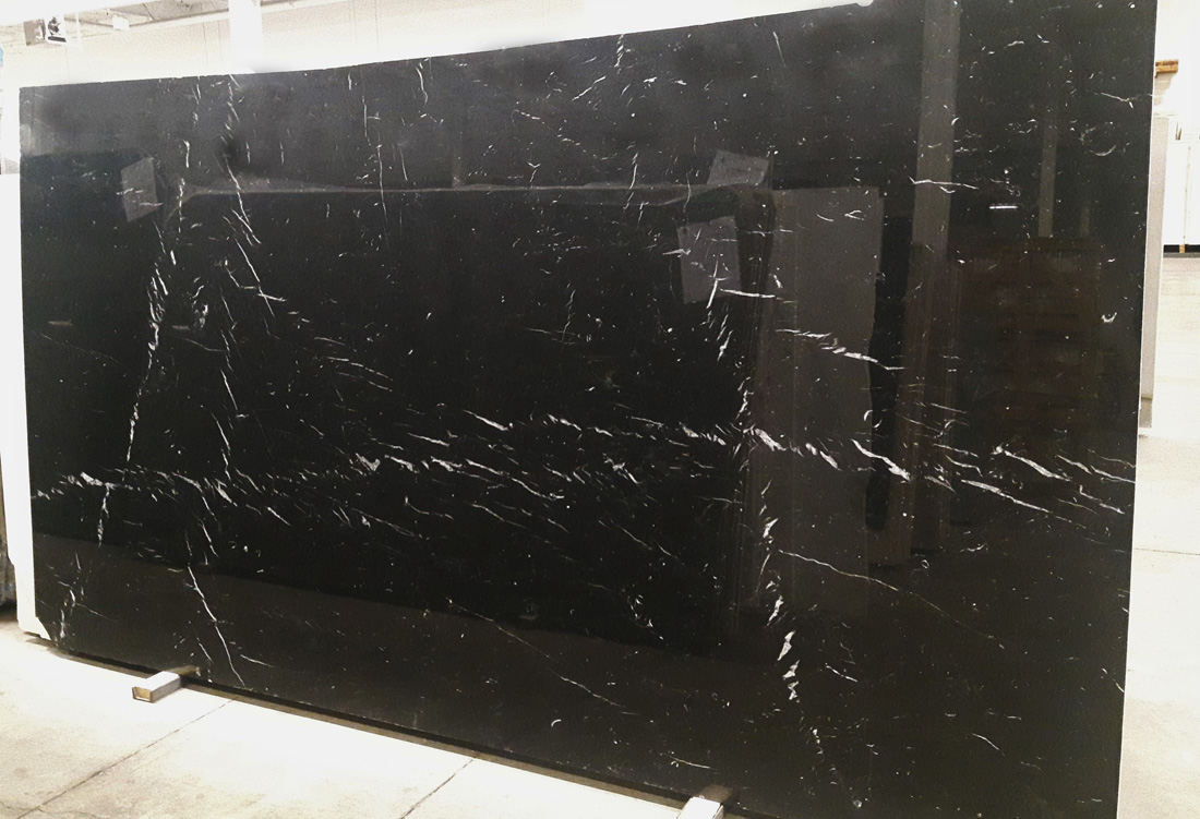 Nero Marquina Marble Slabs Black Polished Marble for Walls