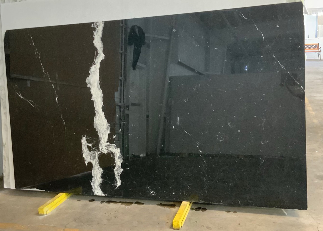 Nero Marquina Marble Slabs Polished Black Marble Stone Slabs