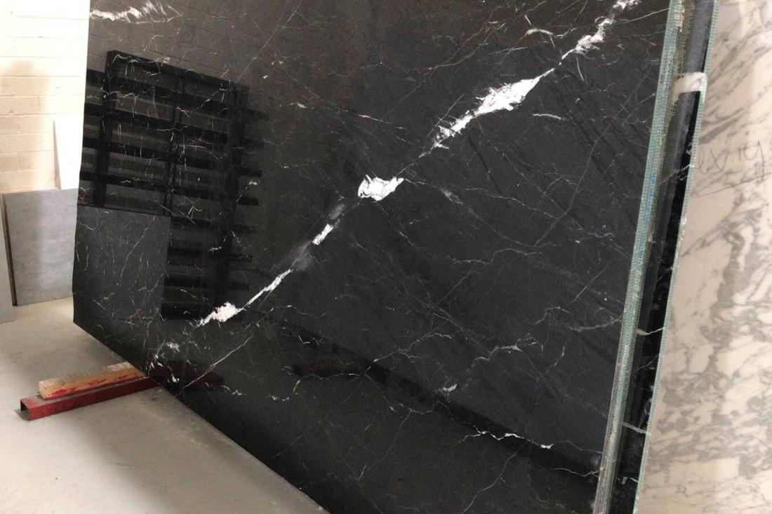 Nero Marquina Marble Slabs Spanish Polished Black Marble Slabs