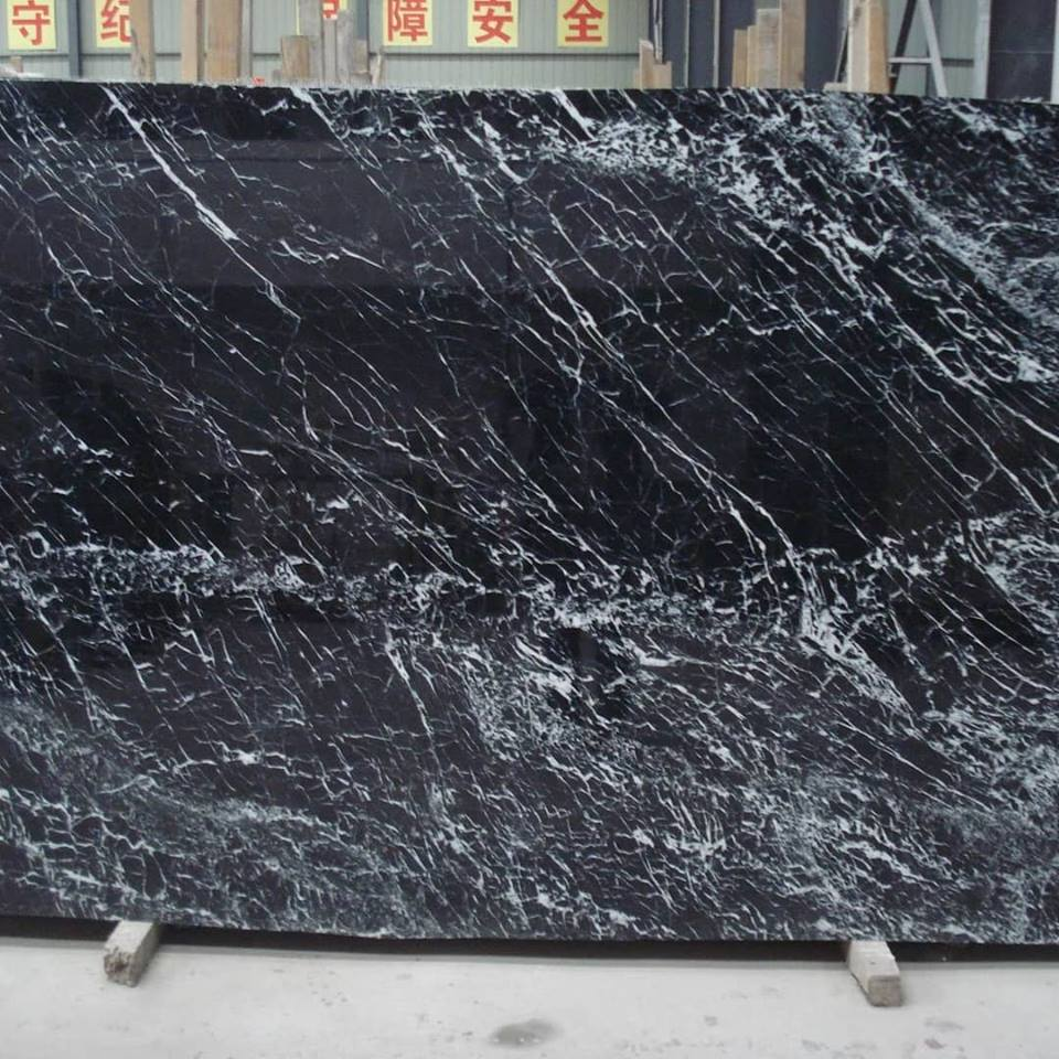 Nero Marquina Slabs Black Marble Slabs from China