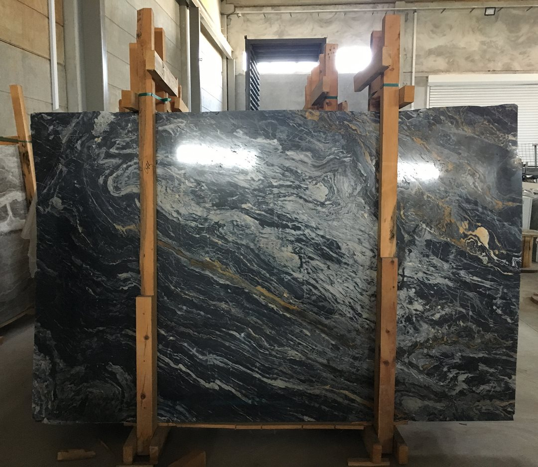 Nero Picasso Slabs Polished Marble Slabs