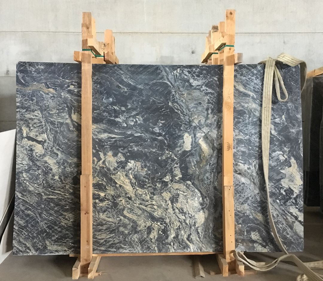 Nero Picasso Slabs Turkish Black Marble Slabs