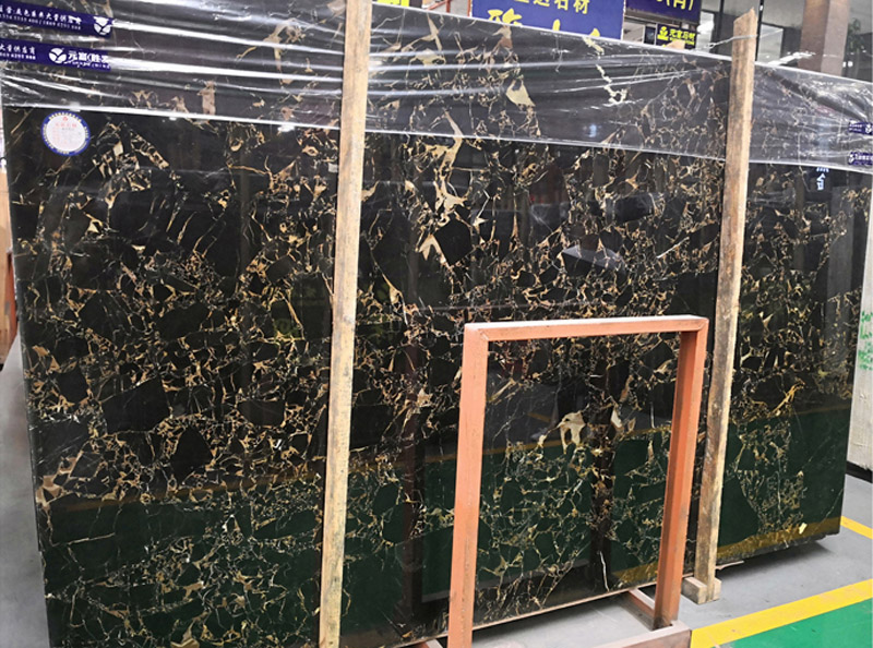 Nero Portoro Gold Marble Slabs Polished Black Marble Slabs