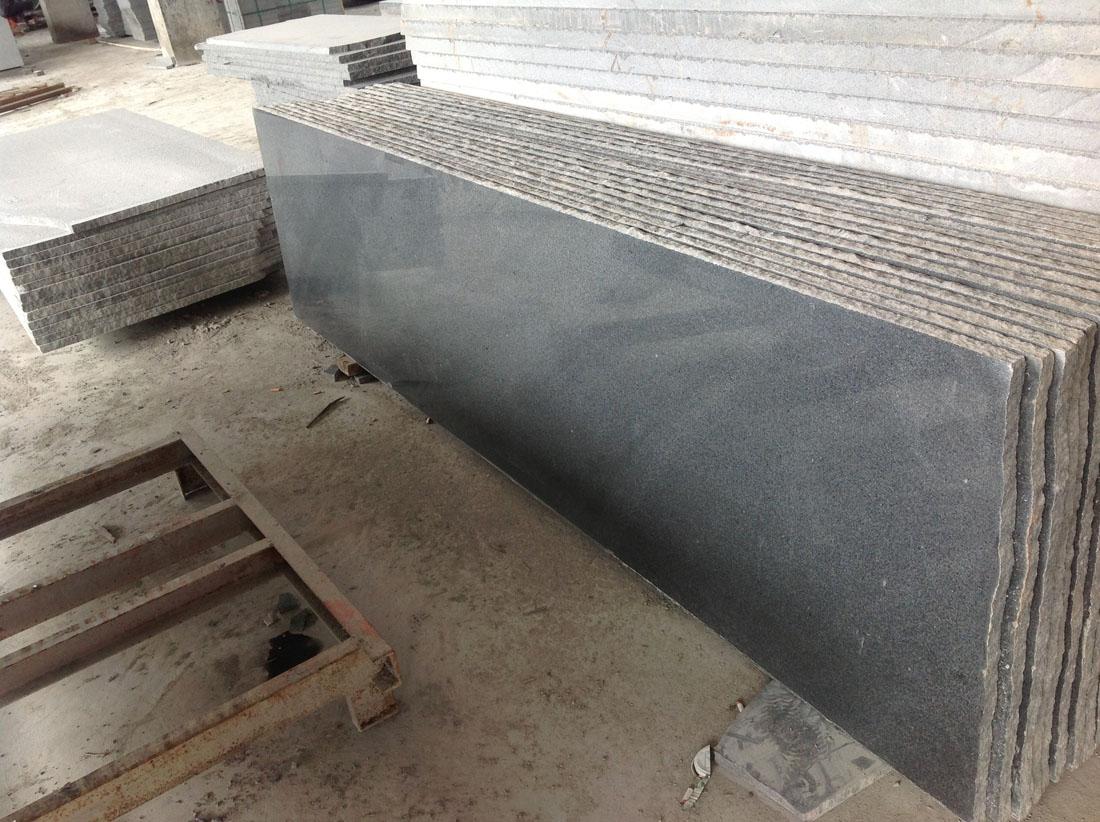 New 654 Padang Dark Grey Black Granite Strip Slabs