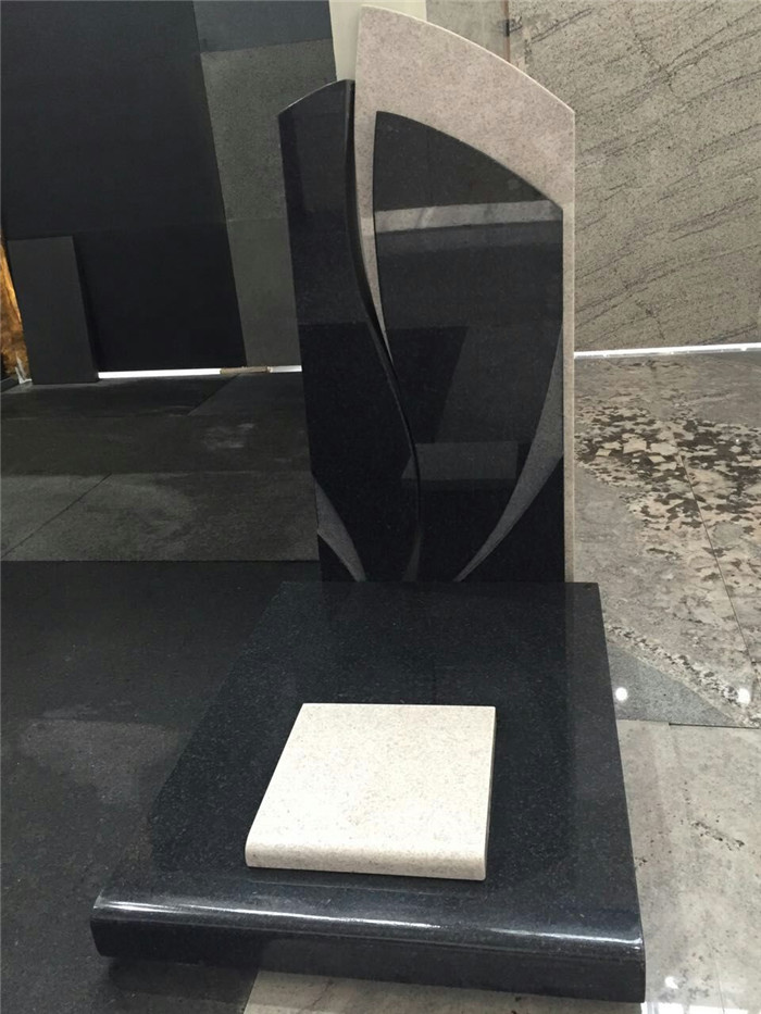 New Absolute Black Granite Tombstone
