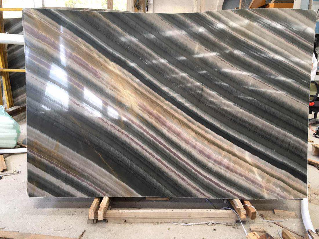 New Acquarella Elegant Brown Marble Slabs