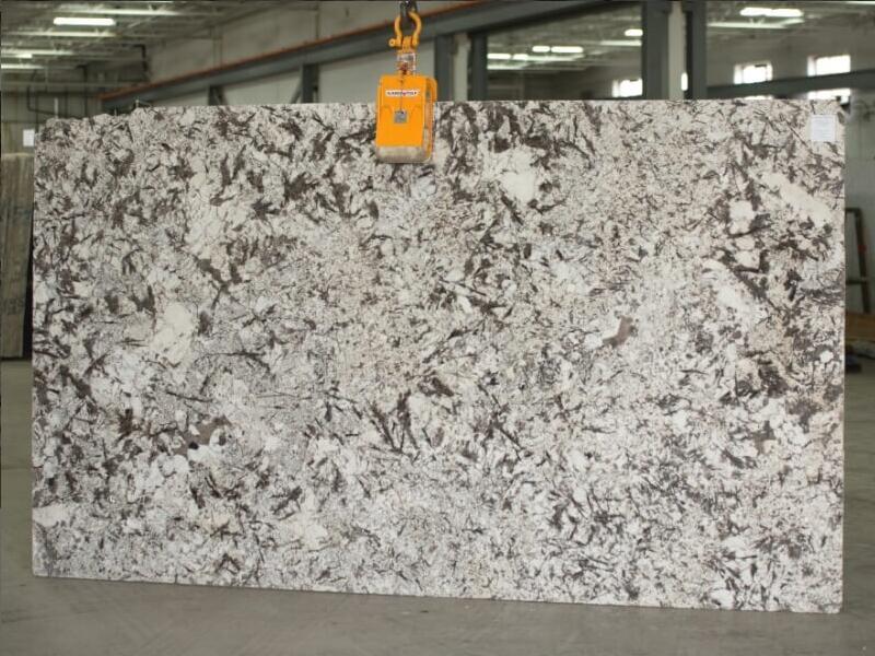 New Aspen White 2cm Granite Slabs for Kitchen Countertops