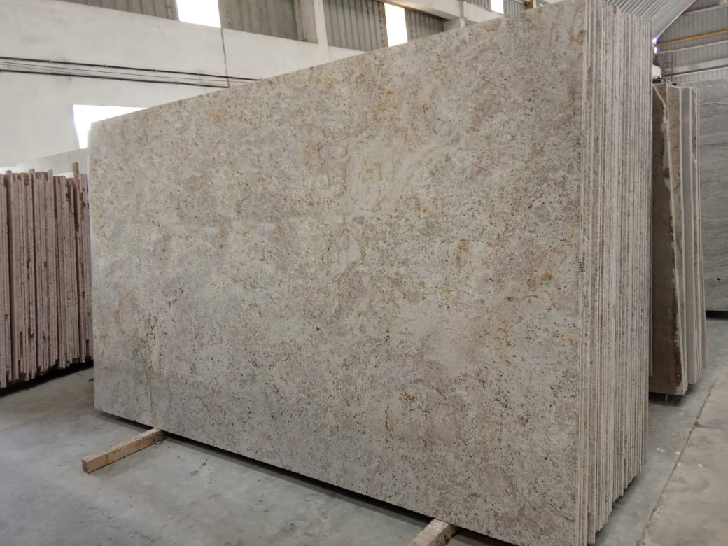 New Astoria Cream Granite Polished Granite Slabs