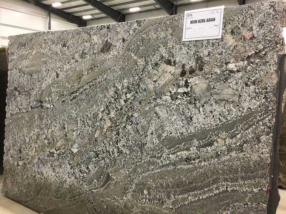 New Azul Aran Granite Slabs for Kitchen Countertops