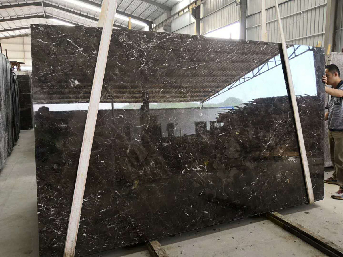 New Brown Marble Slabs Coffee Net Marble Slabs