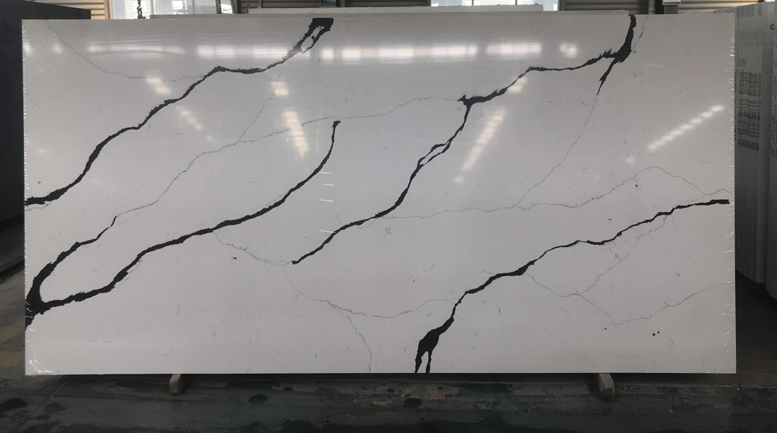 New Calacatta Quartz Slabs Polished Artificial Stone Slabs
