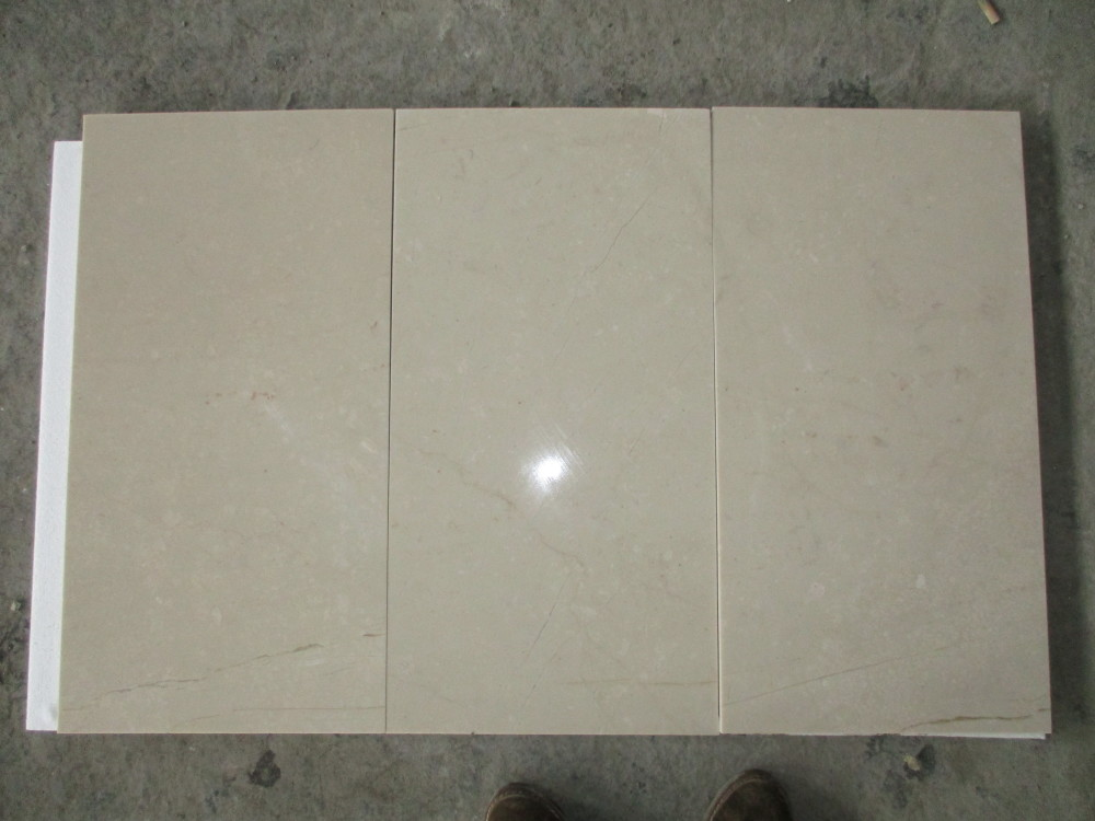 New Cream Mafil Marble Tiles Polished Beige Marble Flooring Tiles