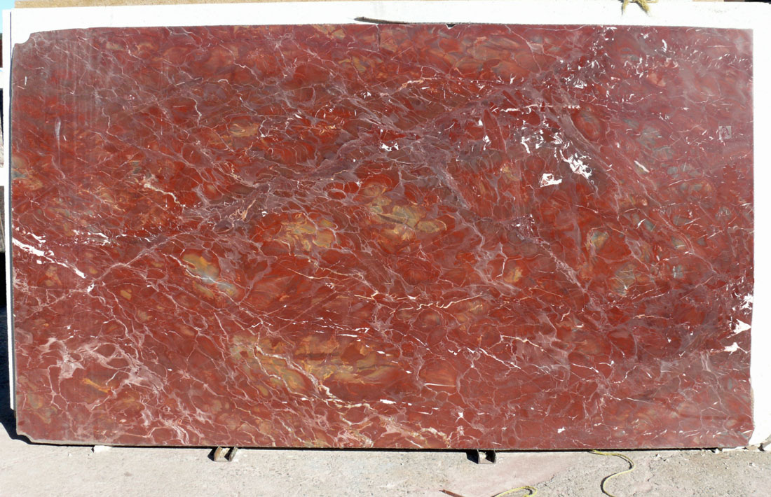 New Damasco Marble Slab Polished Red
