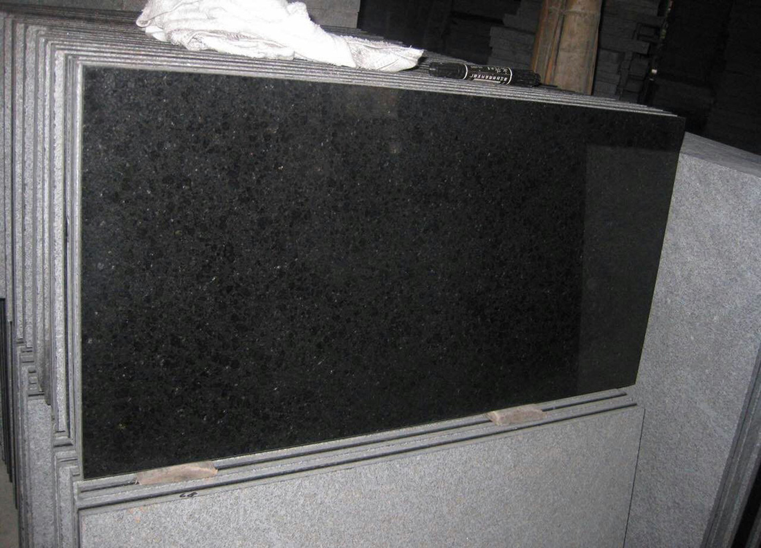 New G684 Fuding Black Black Granite Tiles