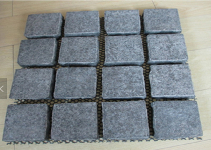 New G684 Fuding Black Pearl 10x10x10 Black Flamed Granite Paving Stone