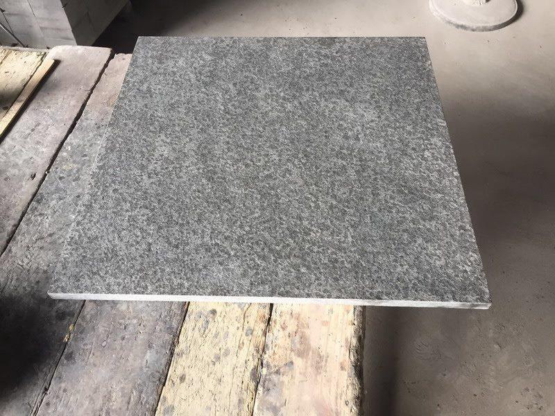 New G684 Fuding Black Pearl Flamed Black Granite Tiles