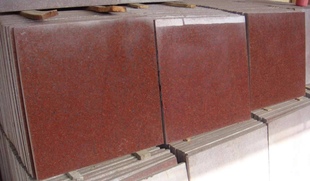 New Imperial Red Granite Polished Flooring Tiles