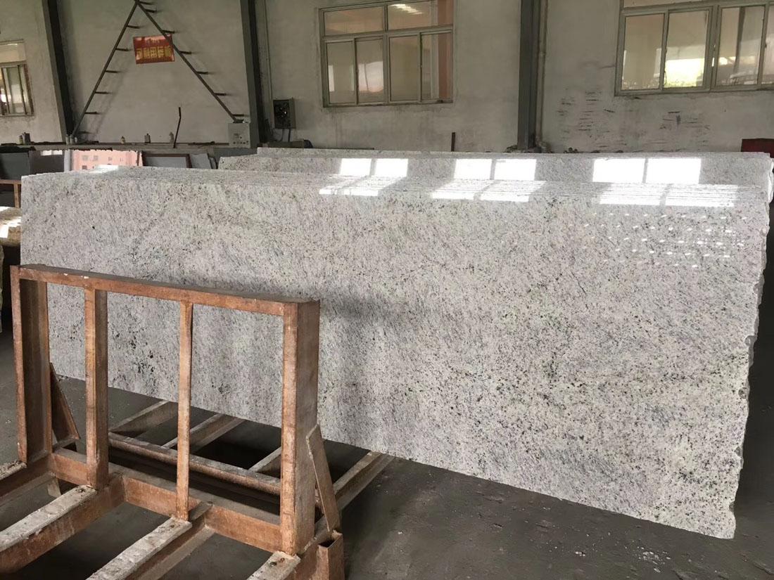 New Kashmir White Granite Prefab Striple Slabs