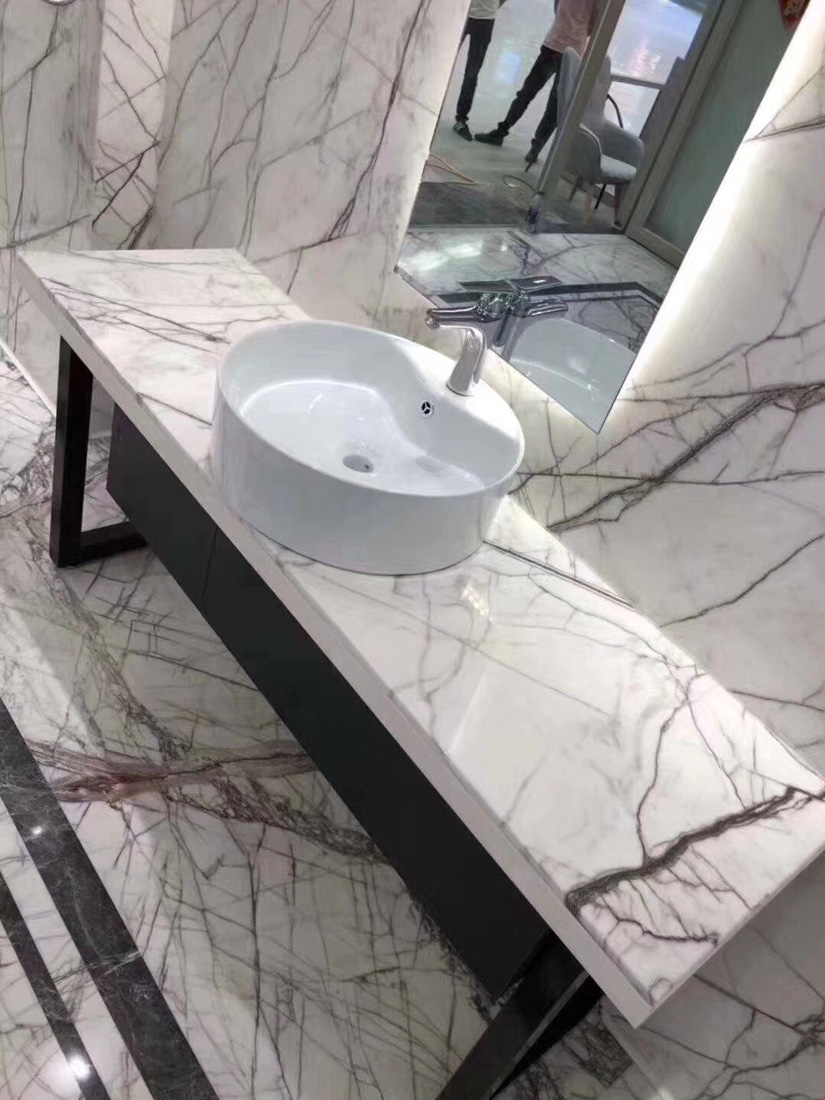 New Lilac New York White Marble Vanity Tops