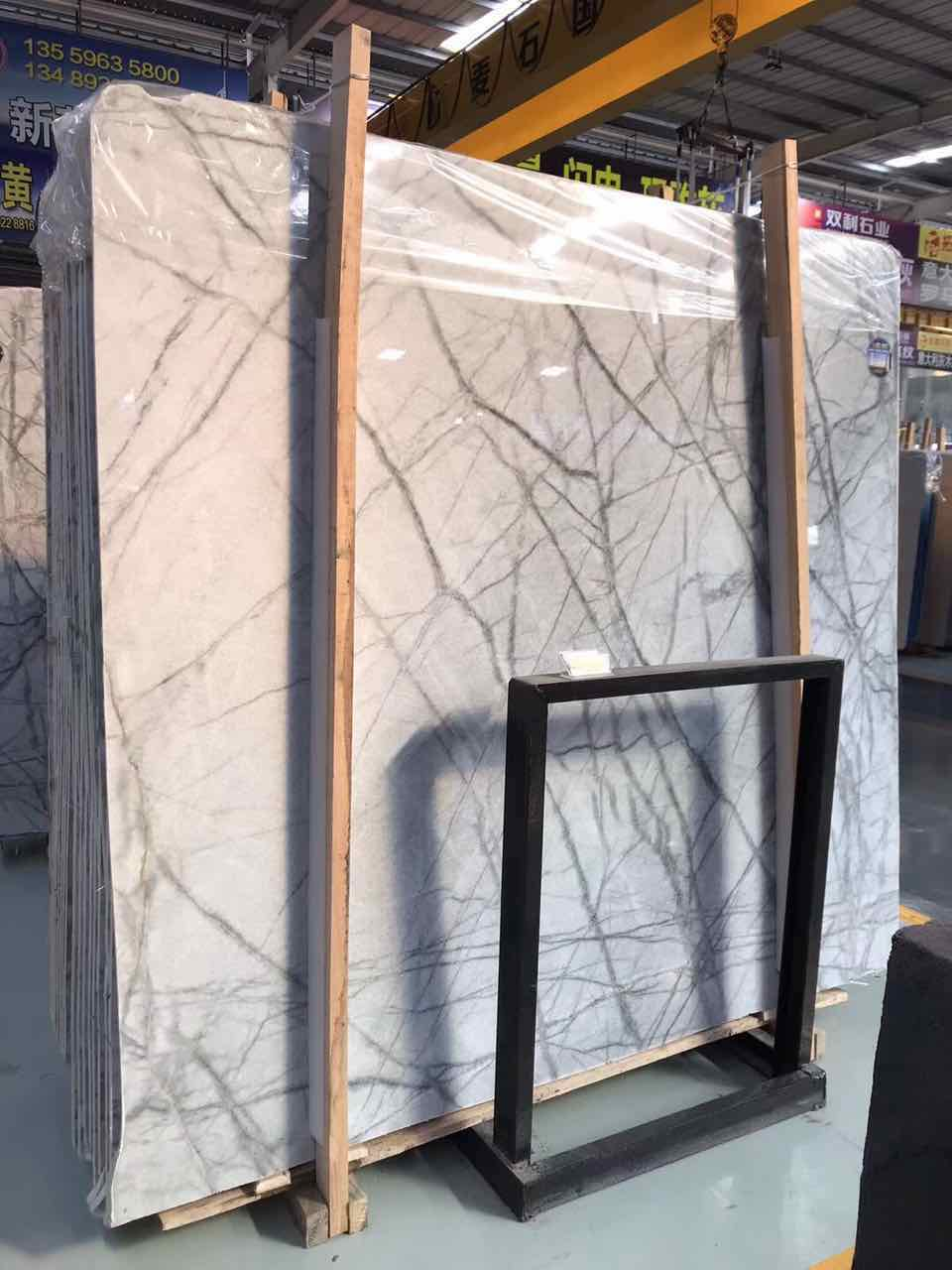 New Lilac White Marble with Black Vein Marble Slabs