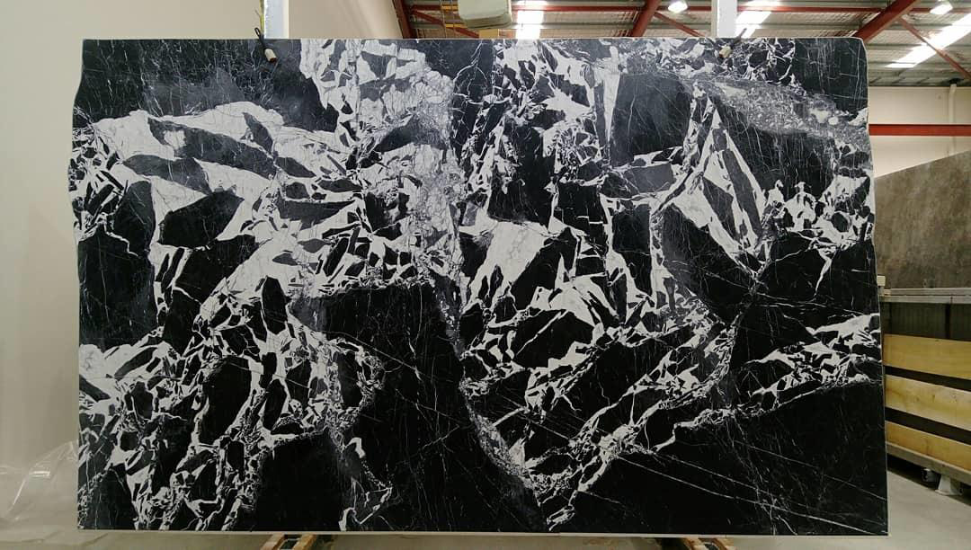 New Manhattan Black Marble Polished Slabs