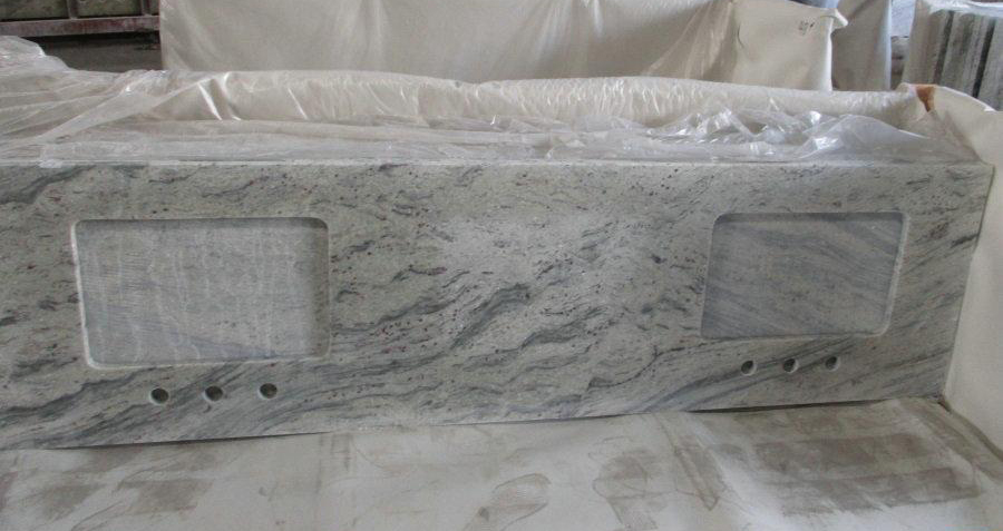 New River White Granite Kitchen Countertops