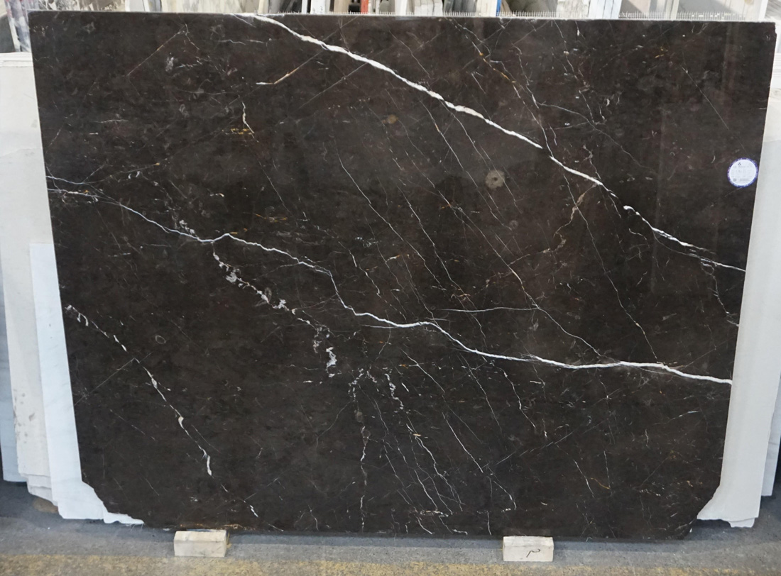 New St Laurant Polished Marble Black Marble Slabs