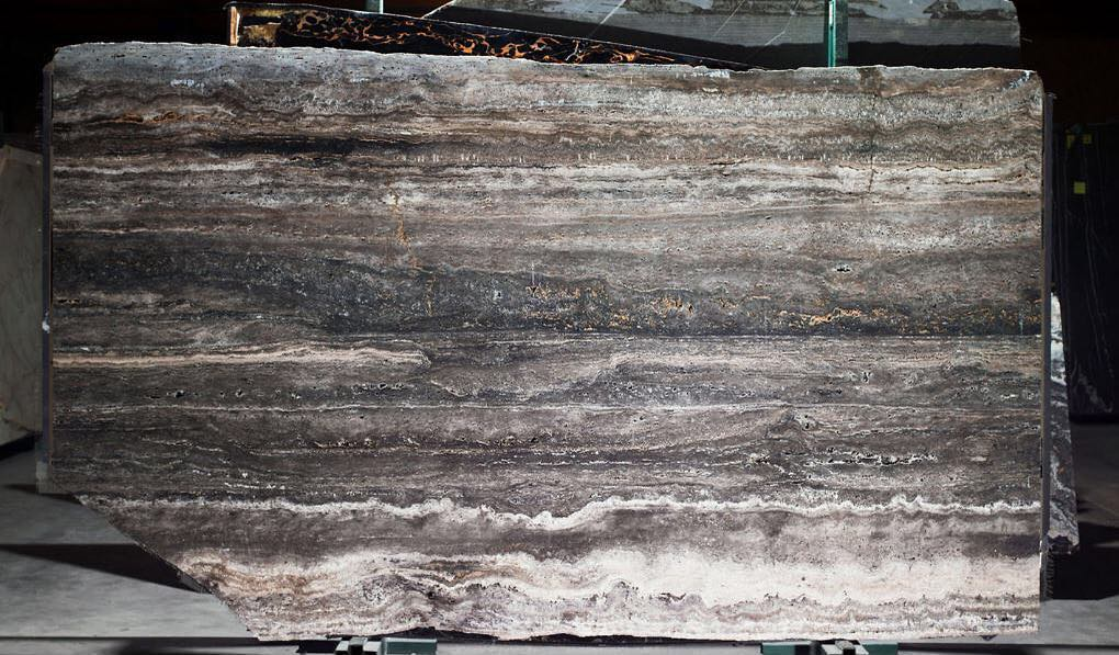 New Titanium Travertine Natural Stone Slabs
