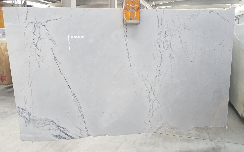 Newyork Extra Premium Polished Marble White Stone Slabs