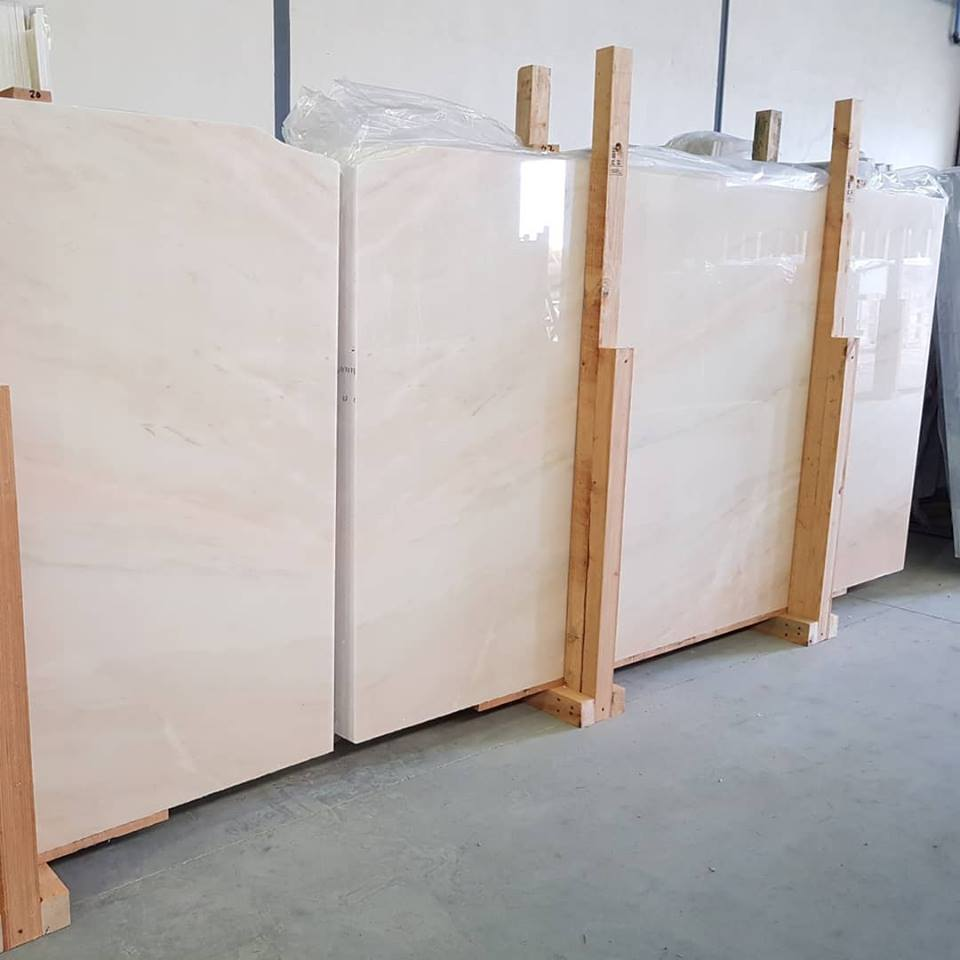 Nice Rosa Aurora Big Slabs Polished Marble Slabs