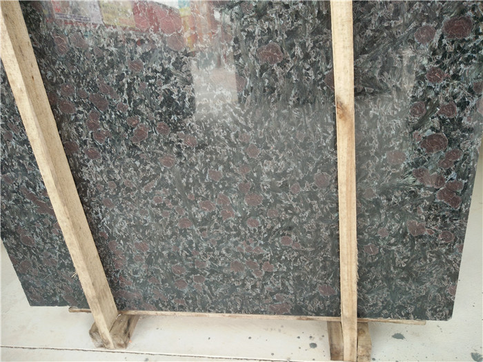 Night Rose Granite Slabs High Quality Polished Granite